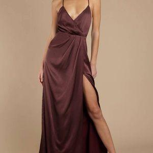 Tobi Satin Maxi Dress